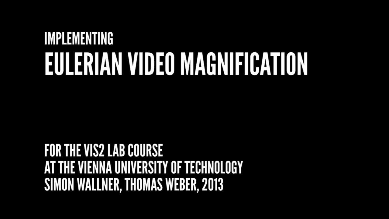 Implementing Eulerian Video Magnification