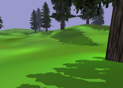 image7: A scene shadowed with Light Space Perspective Shadow Maps.