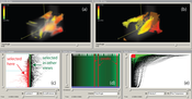 Figure1: Multiple views and smooth brushing for vortex analysis