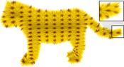 tiger: Tiger model with a furry shell map