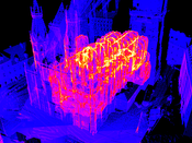 image: Stephansdom overdraw with MNO at 1px point size.
