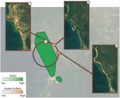 results-satellite: Dataset Satellite: Our approach identified the satellite image which shows damage caused by a tsunami on a coast-line in Indonesia.