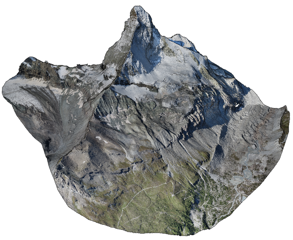 Matterhorn: Around 280 million points. Point cloud courtesy of Pix4D.